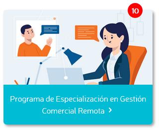 Programa de especialización en gestión remota comercial